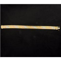 7 Inch Yellow, Rose, & White Gold Bracelet