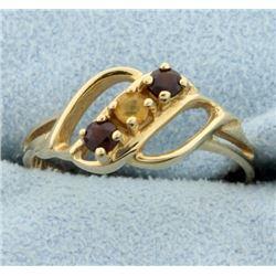 Garnet & Citrine Ring