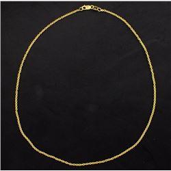 Italian Made 16 1/4 Inch Round Link Chain