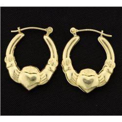 Claddagh Hoop Earrings