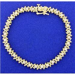 2ct TW Diamond Tennis Bracelet