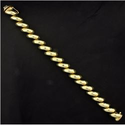 8 Inch Designer Gold Bracelet