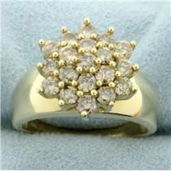 2ct TW Champagne Diamond Cluster Ring