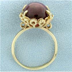 Over 10ct Vintage Purple Almandine Garnet Ring