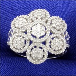 1.5ct TW Diamond Flower Ring