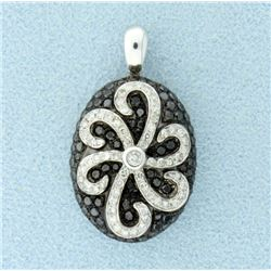 1 ct TW Black & White Diamond Pendant