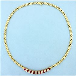 High Quality Ruby & Diamond Necklace