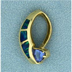 Tanzanite and Opal Slide/Pendant