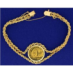 1/10 Ounce Gold Chinese Panda Coin in Bracelet