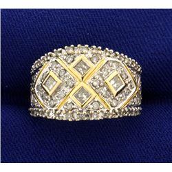Vintage 1ct TW Diamond Ring