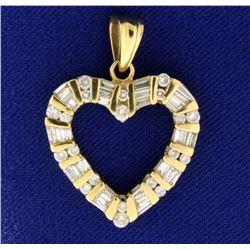 1ct TW Diamond Heart Pendant