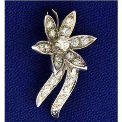1/2 ct TW Diamond Flower Pendant