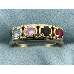 Multi Colored Gemstone Ring