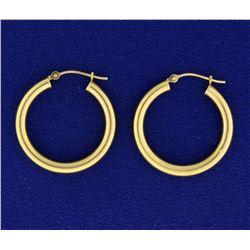 1 Inch Hoop Earrings