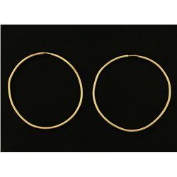 1 1/2 Inch Hoop Earrings
