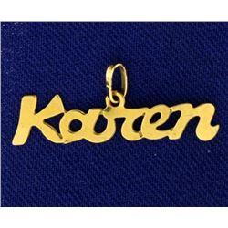 """Karen"" Pendant"
