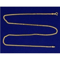18 Inch Flat Box Link Neck Chain
