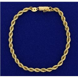 7 1/4 Inch Rope Style Bracelet