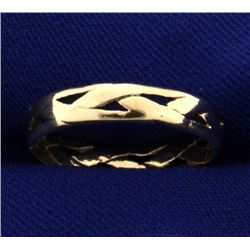 Woven Woman's Band Ring