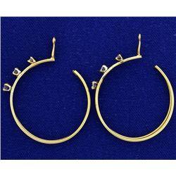 Diamond Drop Hoop Stud Earring Enhancers