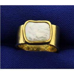 Betsy Fuller Mother of Pearl Designer Ring