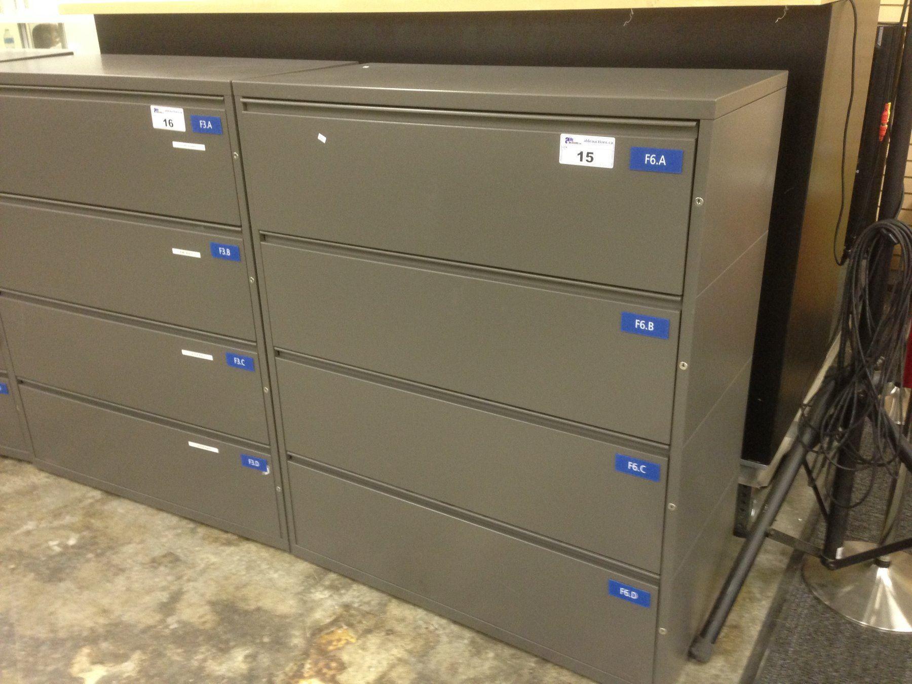 Herman Miller Cobalt Grey Independently Locking 4 Drawer