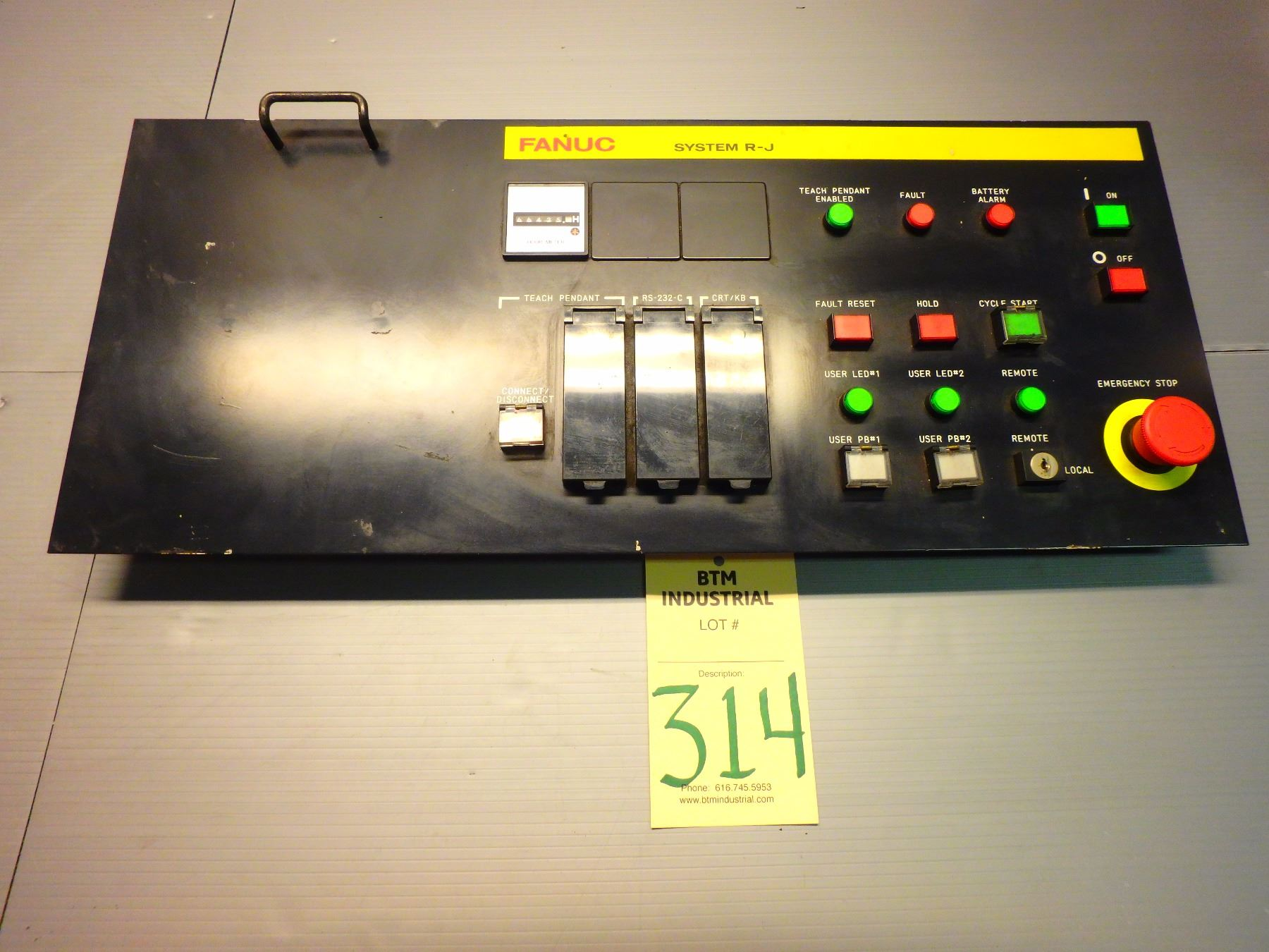 Fanuc A05B-2302-C021 Operators Panel w/ A20B-1003-0045 REV  01A Circuit  Board - SYSTEM R-J