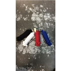 4 cotton lead ropes 10ft with bull snap