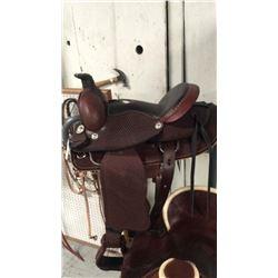 16inch basket weave round skirt montana saddlery saddle