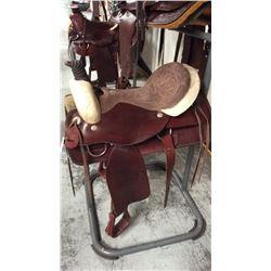 Used 18 inch montana saddlery roping saddle