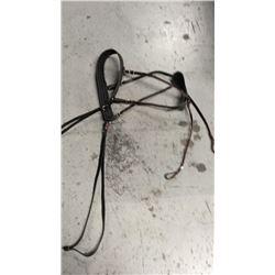 Black leather breeching