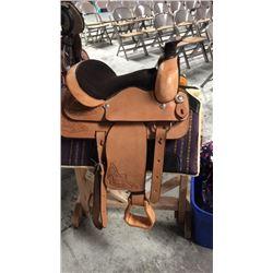 15 inch natural leather montana saddlery saddle