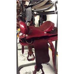 15 inch burgundy montana saddlery saddle