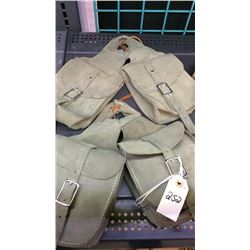 Olive chap leather horn bag