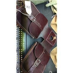 Latigo leather horn bag