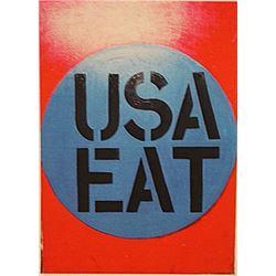 Robert Indiana - USA Eat