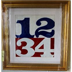 Oil on Paper Robert Indiana