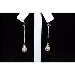 Dazzling Dangling Silver Earrings (4E)