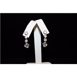 Elegant Sapphire Silver Earrings (12E)