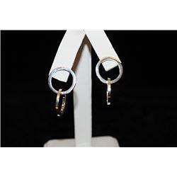 Gorgeous Dangling Rings Silver Earrings (35E)