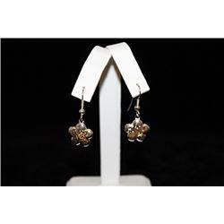 Exquisite T & Co. Flower Silver Earrings (37E)