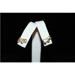 Lavish T & Co. Dog Silver Stud Earrings (68E)