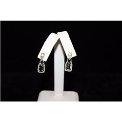 Beautiful Sapphire Silver Earrings (73E)