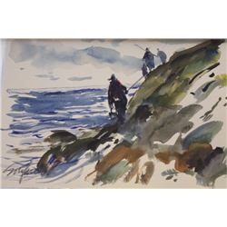 """ROCKY SHORE WALK"" BY MICHEL SCHOFIELD"