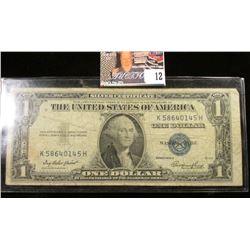 Series 1935E U.S. One Dollar Silver Certificate.