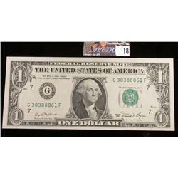 Series 1981 U.S. One Dollar Federal Reserve Note. CU.