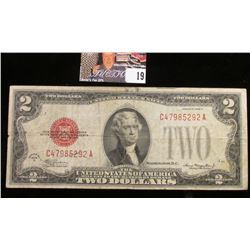 Series 1928D Two Dollar U.S. Note with Red Seal.