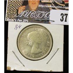 1964 Canada Silver Quarter, BU.