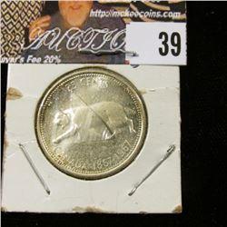 1967 Canada Silver 'Bobcat Confederation' Quarter, Prooflike.
