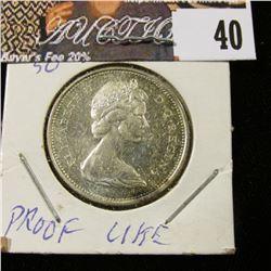 1968 Canada Silver Quarter, Prooflike.